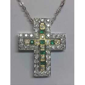 CROSS DIAMONDS EMERALDS AND DIAMONDS