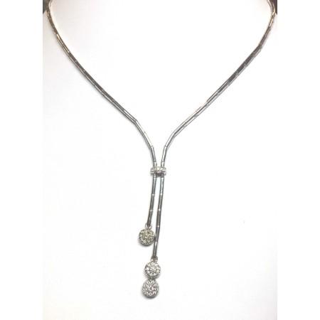 Collier en or 18 kt avec des diamants naturels 0.45 ct grammes 23.50