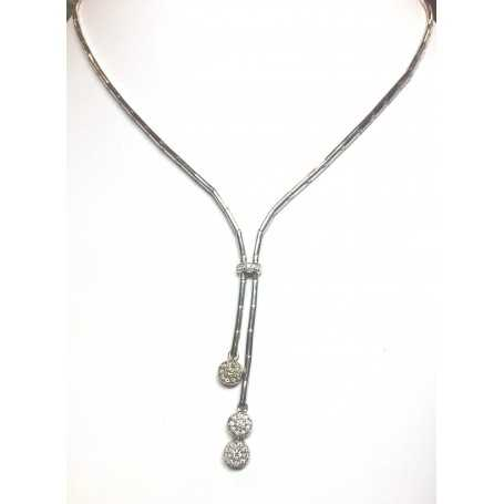 Collier oro 18 kt con diamanti naturali 0,45 ct grammi 23.50