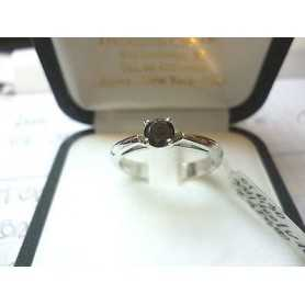 SOLITAIRE RING with DIAMOND Carat 0.30 VS clarity, BLACK Color