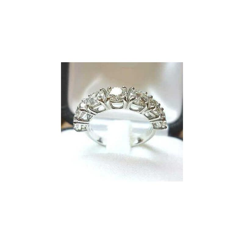 BAGUE anneau, de 2,80 carats 7 pierres de 0,4 beaucoup 3,0 2,0