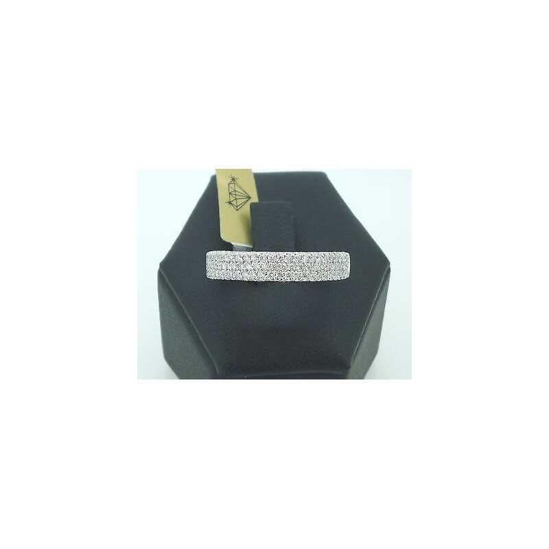 RING RING, PAVE' 1,10 CARAT VS F COLOR LOT 1,00 1,50 0,50 GOLD 18 KT