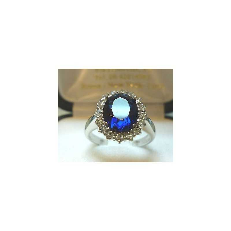 BAGUE SAPHIR 2 CARATS de DIAMANTS BLEUS DIAMANTS de 0.50 CARAT modèle de middleton