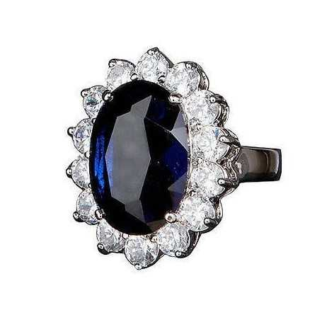 BAGUE SAPHIR de 5 CARATS de DIAMANTS BLEU DIAMANTS de 1.40 CARAT modèle de middleton