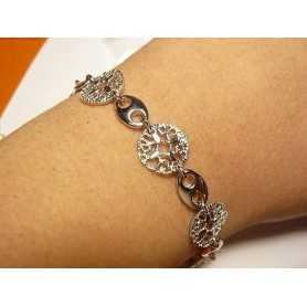 BRACELET SILVER 925 RHODIUM-plated 18 K GOLD VALENTINE's day CHRISTMAS EASTER