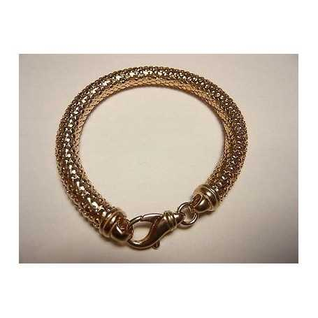 BRACELET SILVER 925 RHODIUM WITH PINK GOLD