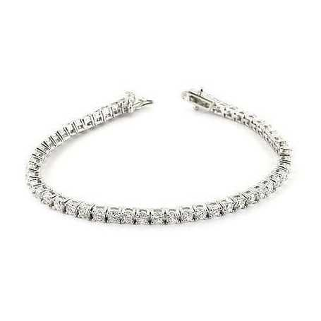 BRACCIALE DIAMANTI TENNIS 2.5 CARATI PIETRE VVS F COLOR