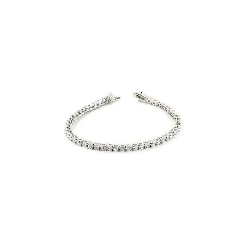 BRACCIALE DIAMANTI TENNIS 3.0 CARATI PIETRE VVS F COLOR