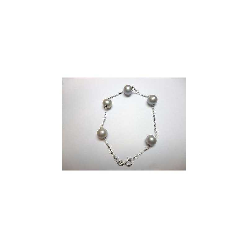 Perles BRACELET GRIS 7,5 mm en or 18 kt