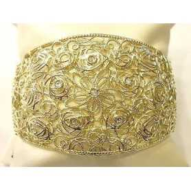 BRACELET STROILI SILVER 925 RHODIUM PLATED YELLOW GOLD STONE RHINESTONES LIKE DIAMONDS