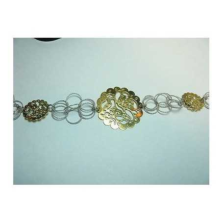 SILVER BRACELETS WITH RHODIUM-PLATED GOLD 7.40 GR.FILIGREE VALENTINE'S DAY CHRISTMAS EASTER