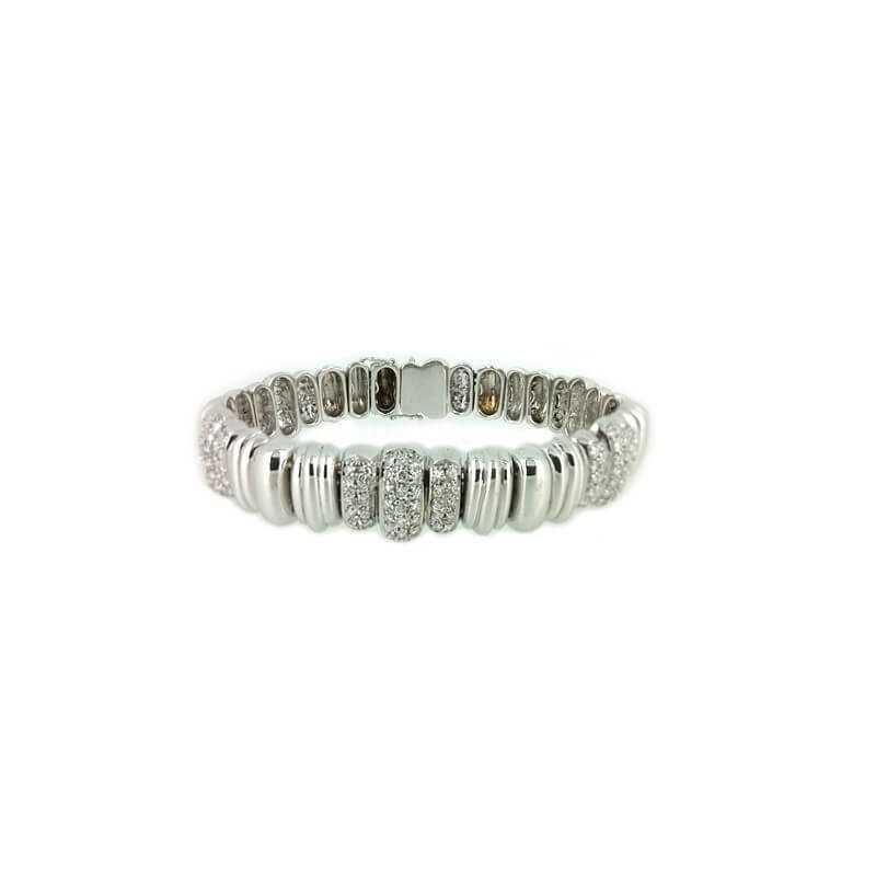 BRACELET avec DIAMANTS 2.70 Ct VS clarté, de Couleur G 47.50 g en Or 18 kt