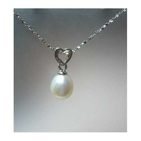 NECKLACE PEARL SILVER 7.50 m