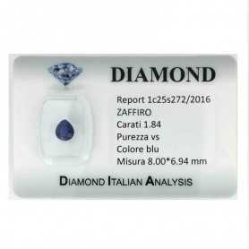 BLUE SAPPHIRE CERTIFIED 1.84 CARAT VS clarity TRT in BLISTER