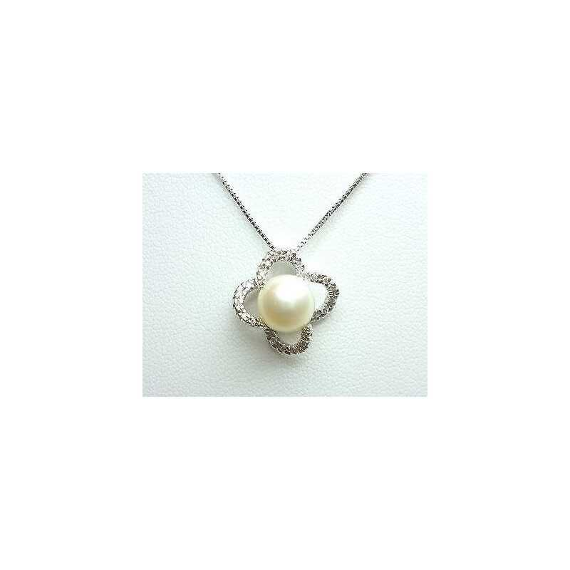 PENDANT NECKLACE, DIAMONDS 0.20 CT VVS F COLOR ORO 18 KT DISCOUNT 70 % AKOYA