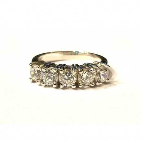 RING RING, with DIAMONDS, Carat Total 1.00 VS clarity, Color G