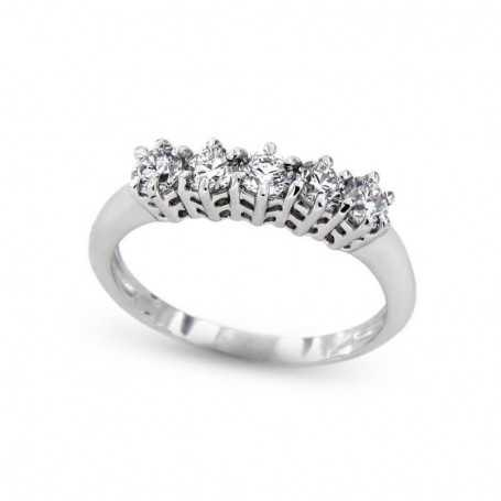 Ring VERETTA FEDE with total carat diamonds 1.00 purity VVS color F