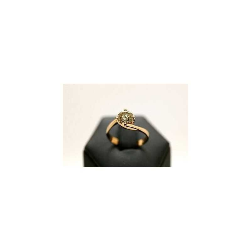 SOLITAIRE RING DIAMOND-BROWN-Class-selectable