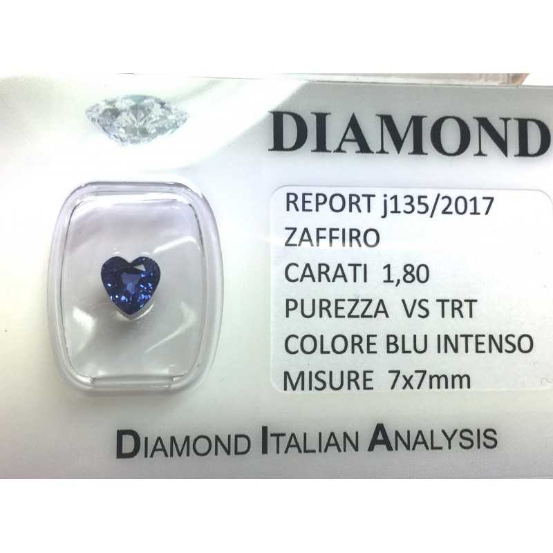 BLUE SAPPHIRE CERTIFIED 1.80 CARAT VS clarity TRT in BLISTER
