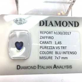 BLUE SAPPHIRE CERTIFIED 1.45 CARAT VS clarity TRT in BLISTER