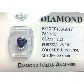 BLUE SAPPHIRE CERTIFIED 2.25 CARAT VS clarity TRT in BLISTER