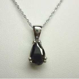 PENDANT BLACK DIAMOND DROP GOLD K 1.70 CT LOT 2.0 1.0