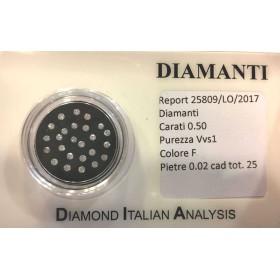 diamant, diamants de 0.50 tous 0.02 beaucoup sous blister