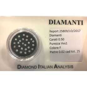 diamante diamanti 0.50 tutti da 0,02 lotto in blister