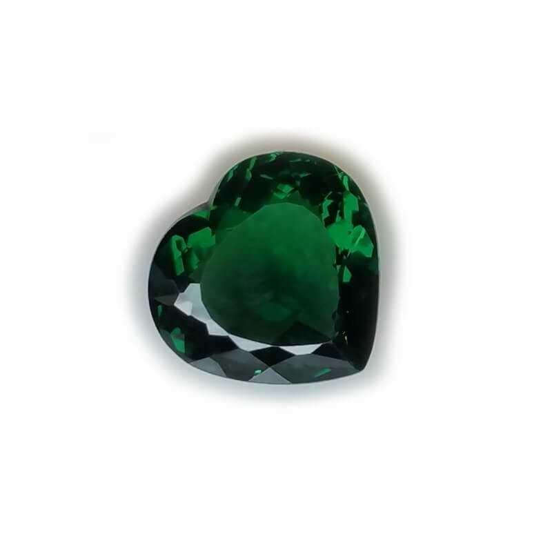 TOPAZ GREEN HEART 17.44 Carats 17.61 x 18.98 mm