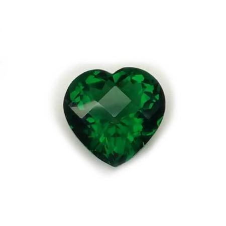 Heart Green Topaz (Briolé) 17.18 carats 17.73 x 17.80 mm