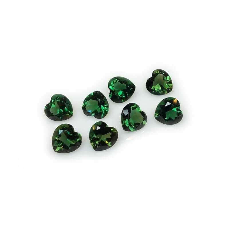 TOPAZ GREEN HEART 1.60 Ct 8.0 x 8.0 mm