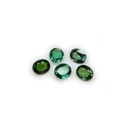 Green Topaz Oval 5.00 carats 10.30 x 12.22 mm