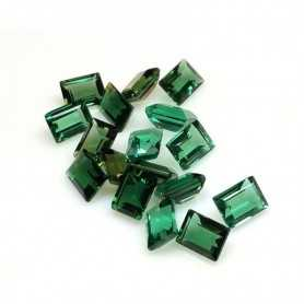 TOPAZ GREEN EMERALD CUT 1.50 Carats 8.00 x 6.00 mm