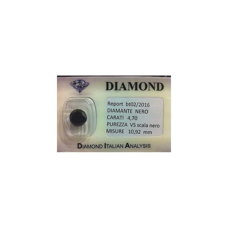 BLACK DIAMOND CERTIFIED 4.70 CARATS, VS clarity, in BLISTER