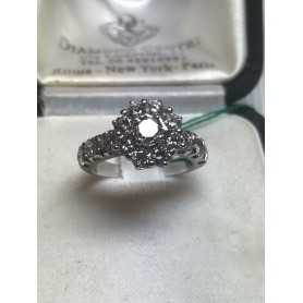 Bague en or 18 kt avec des diamants de 2,50 carats vs f