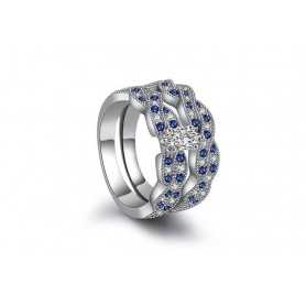 RING SILVER RHODIUM-plated 18K gold with GEMSTONES - SWS0003
