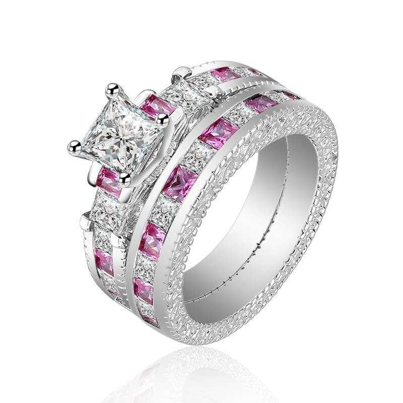 RING SILVER RHODIUM-plated 18K gold with GEMSTONES - SWS0009