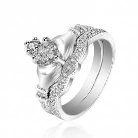 RING SILVER RHODIUM-plated 18K gold with GEMSTONES - SWS0034