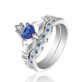 RING SILVER RHODIUM-plated 18K gold with GEMSTONES - SWS0035