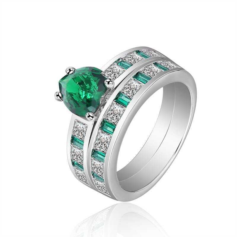 RING SILVER RHODIUM-plated 18K gold with GEMSTONES - SWS0065