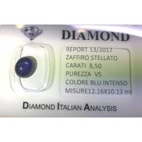 STARRY SAPPHIRE BLUE CERTIFIED 8.50 CARAT VS clarity, in BLISTER