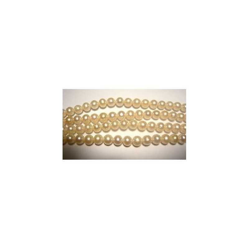 PEARLS NATURAL 130-CARAT gold WIRE of 40 CM and a DIAMETER of 7 mm