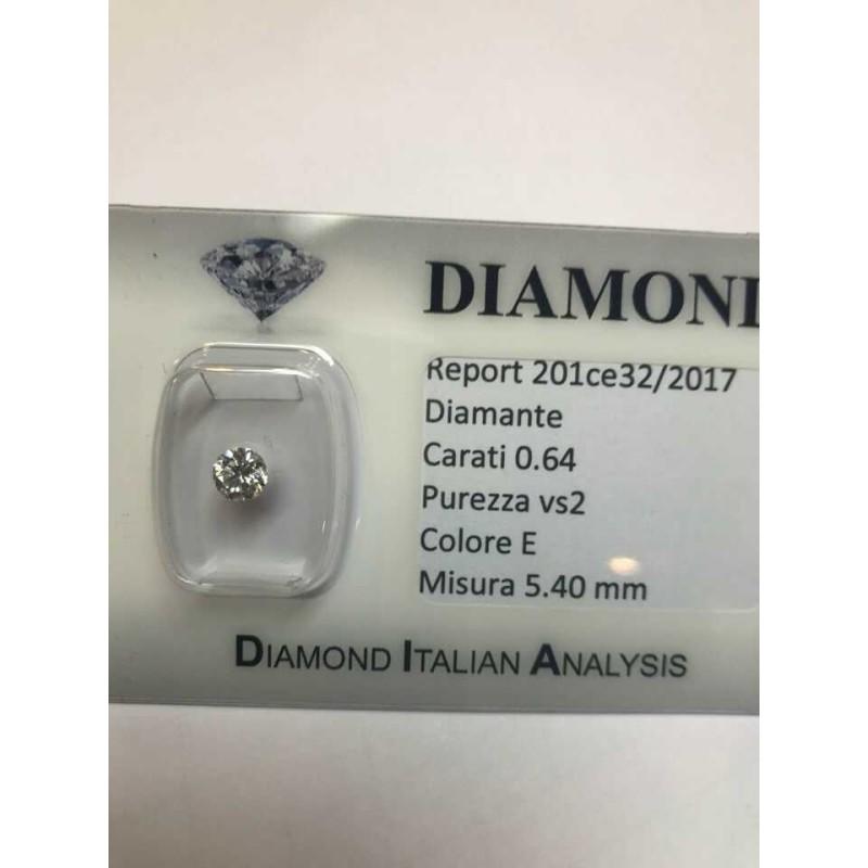 Diamant de 0,64 carat vs2 Et la couleur lotot 1.00 0.75 0.50 blister