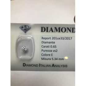 Diamante 0.65 carati vs2 E color lotot 1.00 0.75 0.50 blister