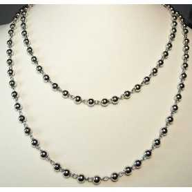 NECKLACE SILVER 925 RHODIUM-PLATED WHITE GOLD 36.20 GRAMS LONG 100 CM