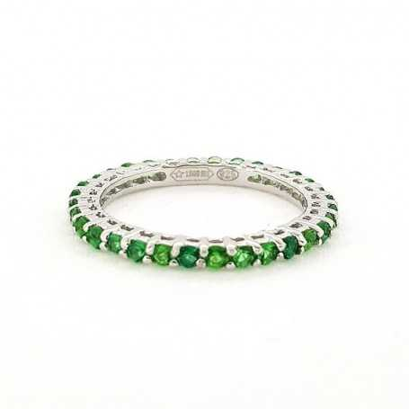 RING ETERNITY SILVER with EMERALDS