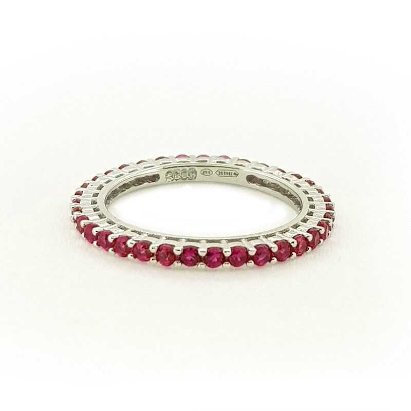 RING ETERNITY SILVER with RUBIES