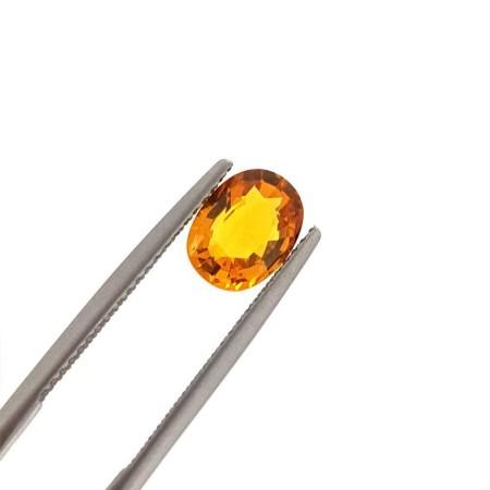 Yellow sapphire oval cut 0.40 carat 5x4 mm