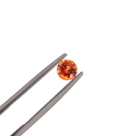 SAPPHIRE ORANGE BRILLIANT CUT 0.60 Carat, 5 mm