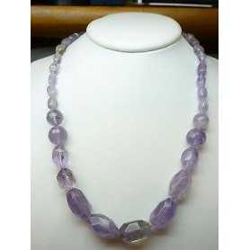 NECKLACE AMETHYST, LENGTH 58 CM and 480 CT TOTAL